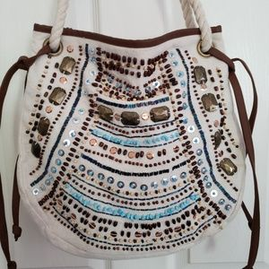 Aldo Beaded Boho Handbag Purse
